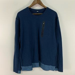 Lululemon Men's Blue Workout Sweatshirt